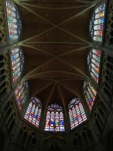 A ceiling of one of Ghent's many cathedrals
