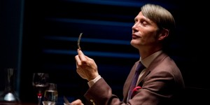 This publicity image released by NBC shows Danish actor Mads Mikkelson as Dr. Hannial Lecter in a scene from the upcoming TV series,