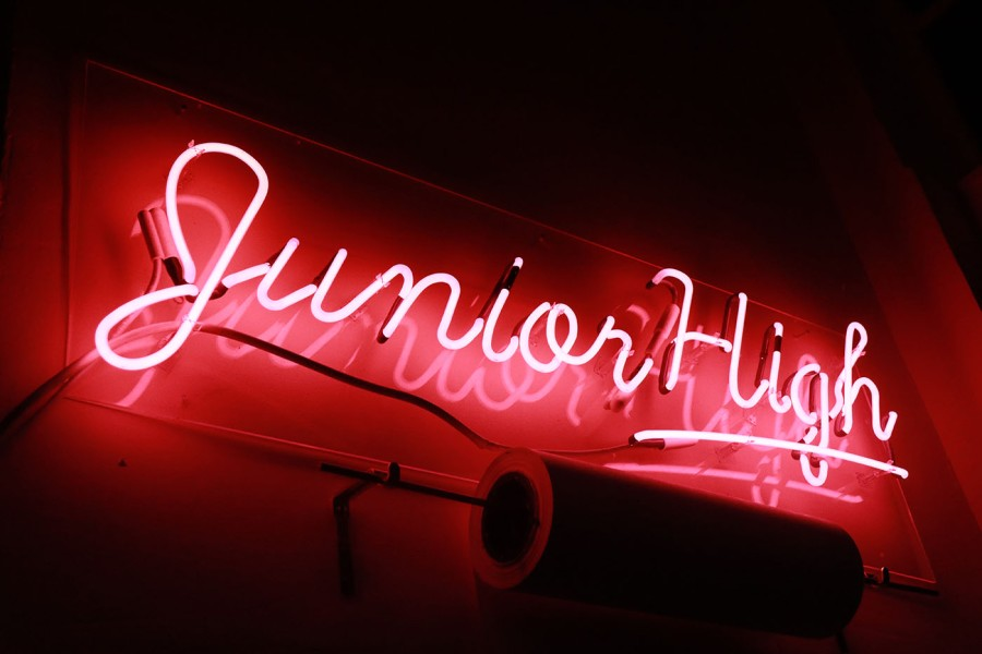 Neon of sign of LA's Junior High location
